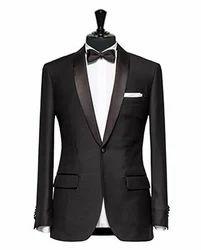 Dark Black Micro Design Tuxedo Suits