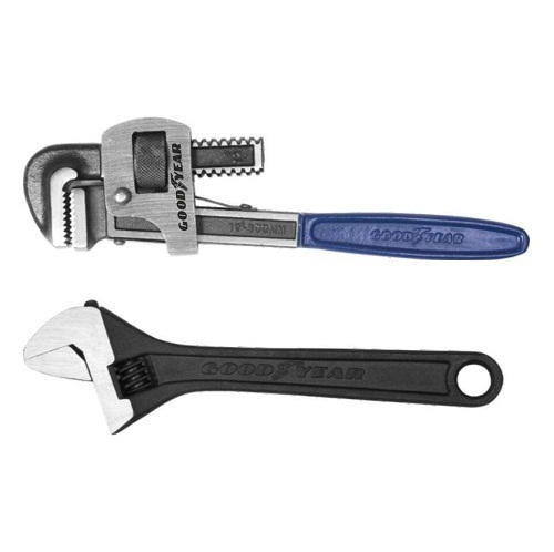 GoodYear 14inch Pipe Wrench Stillson Type And 10inch Adjustable Wrench Combo  sc 1 st  IndiaMART & GoodYear 14inch Pipe Wrench Stillson Type And 10inch Adjustable ...