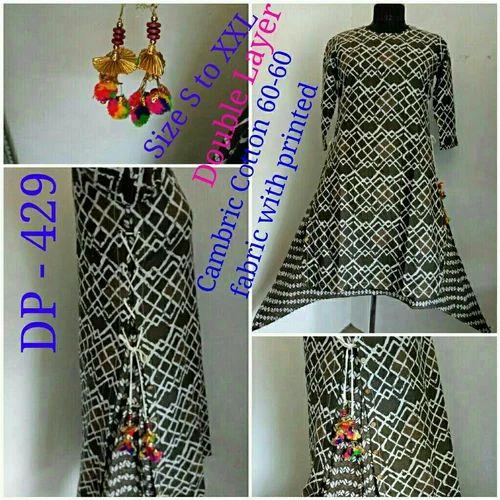 Cotton Long Kurti Double Layer Kurtis Manufacturer From Jaipur