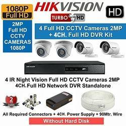Hikvision CCTV 4 Camera Setup 2 Mp - Spionsys Security Services