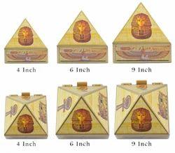 Wooden Pyramid Box Egyptian Design
