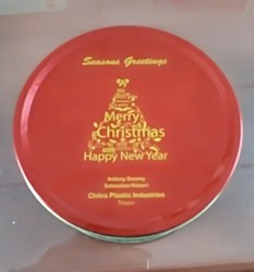 Christmas and New Year Gift Tin Box
