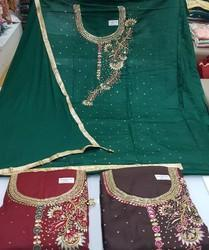 Jama Silk Cotton Unstitched Suit