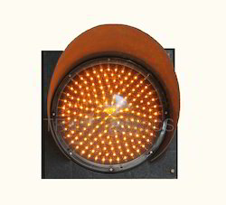 Amber Traffic Signal Light