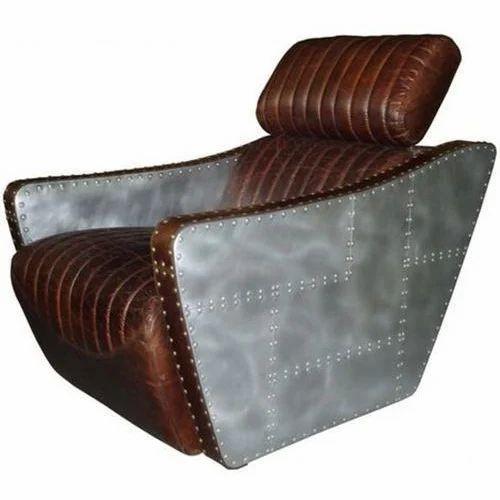Brown Leather Aviator Armchair Aviator Armchair Jodhpure Jodhpur