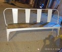 Metal Tolix Bench With Wooden