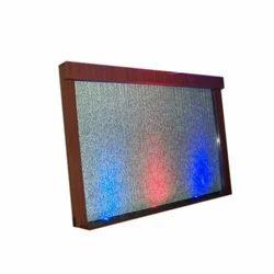 Galss RGB Glass Water Screen Indoor Fountain
