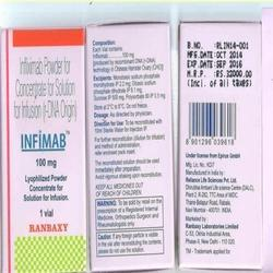 Infimab Infliximab Injection, 100 mg, Packaging Size: Vial