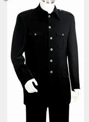 Black Plain Staff Safari Suit