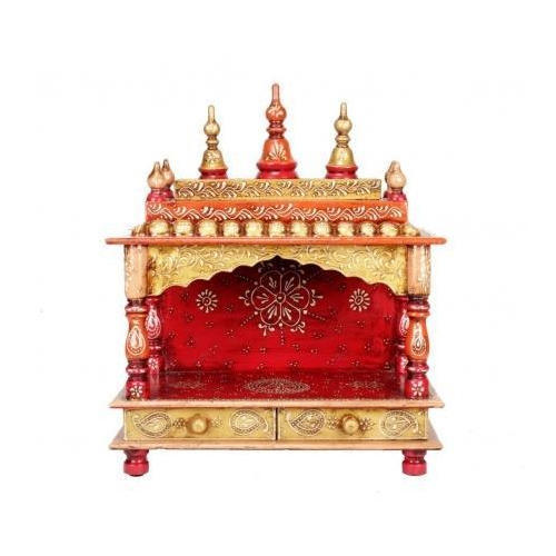 Rajasthani Hand Painted Wooden Temple