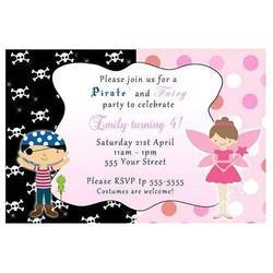 Birthday Party Invitation Card Printing