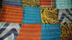Bangali Silk Kantha Scarf, Stole - Hand Work