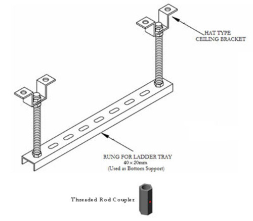 Threaded Rod Support System Concrete Ceiling Threaded