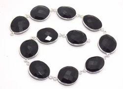 Black Onyx Bezel Chain