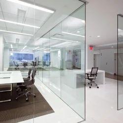办公室玻璃可操作墙