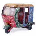 Wooden Decorative Auto Rickshaw