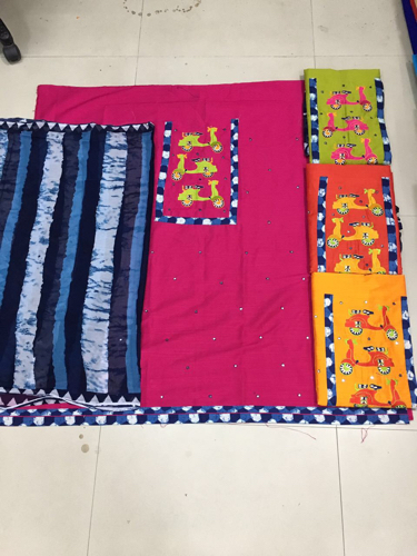 Silk Cotton Kalamkari Suits
