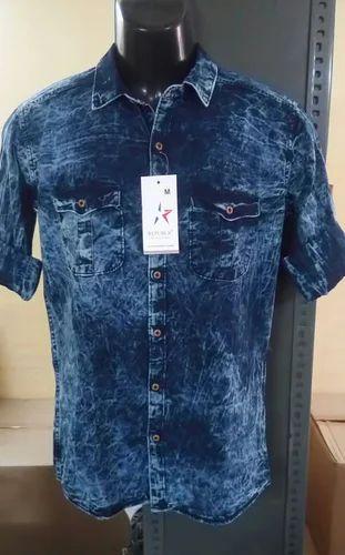 Blue REPUBLIC brand Republic Men' s Casual Shirts