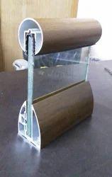 Wooden Coated Aluminium Glass Railing