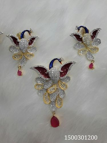 Premium Quality Peacock Pendant Set