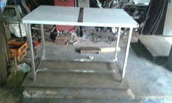 ss silver Steel Table