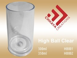 Transparent Plastic High Ball Unbreakable Glass, for Restaurant