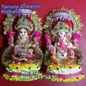 Fiber And Clay Statue Murti Ganesha Laxmi
