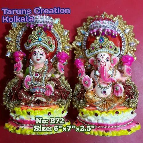 Fiber And Clay Statue Murti Ganesha Laxmi Rs 400 Pair Tarun S Creation Id 13329581891