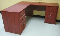 L Shaped Table With Drawers Both Sides