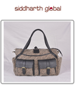 Sand & Black Siddharth Diaper Bag