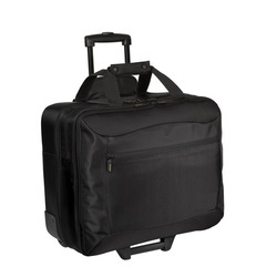 Black Nylon Rolling Traveling Bag