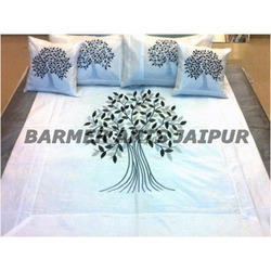 Silk Embroidery Bed Cover Tree Of Life