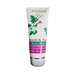 Patanjali Herbal Neem And Tusli Face Wash, Pack Size: Bottle, for Parlour