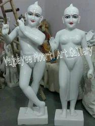 Marble Iskcon Radha Krishna Statue