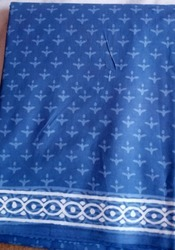 Blue Printed Cotton Saree