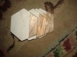 Woody Color Marble Coasters