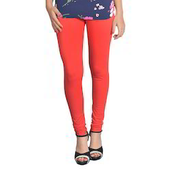 Red Women Leggings