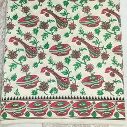 Printed Tusser Saree