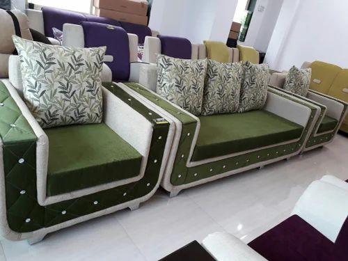 Beau Washable Green Sofa Set 3+1+1