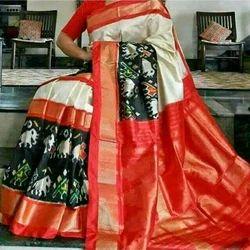 Pure Handloom Ikkat Silk Saree