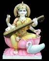 Hindu Marble Saraswati Statue