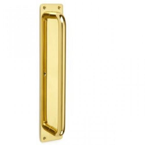 Brass Pull Handle with Plate