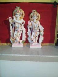White Radha Krishna Marble Statue, Indoor, Size: 2 Feet