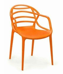 Plastic Orange Atria Chair, for Cafe