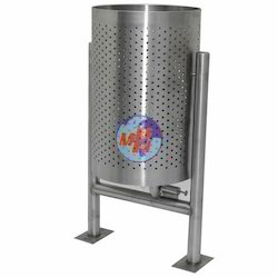 MPH Stainless Steel Dustbin With Stand