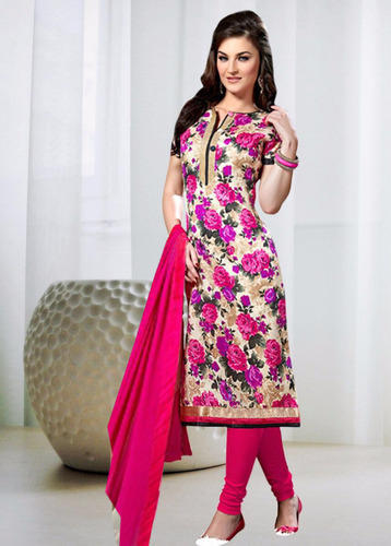 337555c846 Pink Bhaglpuri Unstitched Designer Patiala Salwar Kameez, Rs 579 ...
