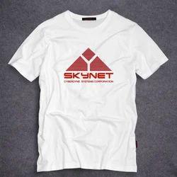 Male Cotton White Corporate T Shirts