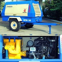 Portable Diesel Engine Driven Air Compressor