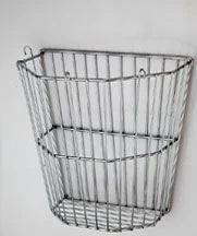 Vintage Industrial Tall Metal Basket