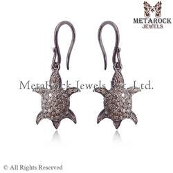 Tortoise Design Diamond Earring